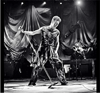 Bowie onstage