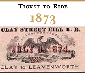 1873 cable car ticket