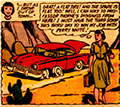 Lois has a flat tire in the middle of the desert.