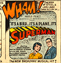 Comic book page ad for the musical.