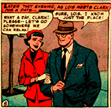 Lois and Clark are off work and stroling arm in arm.