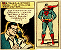 Clark at his news desk, scribbling w/ his right hand and holding a phone with his left.