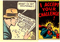 Clark had put his secret identity in jeopardy and is reading the latest newspaper.